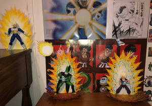 Gohan vs Cell figure effects