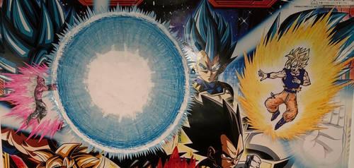 Goku vs Kid Buu spirit bomb