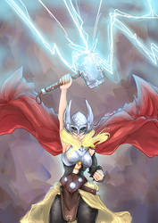 Lady Thor by Chao-Illustrations