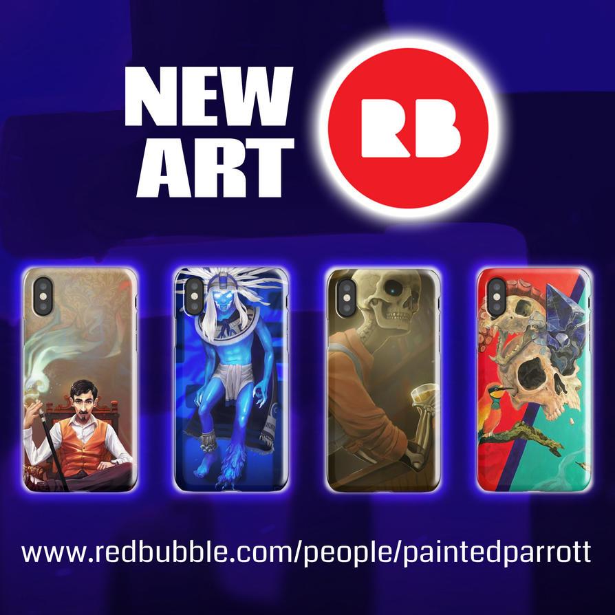 redBubble ad by PaintedParrott