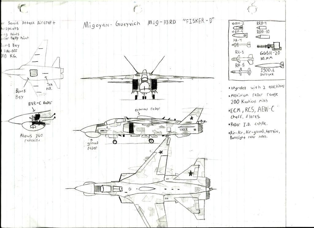 Mikoyan-Gurevich MiG-33RD 'Fisker-D' by Coffeebean2