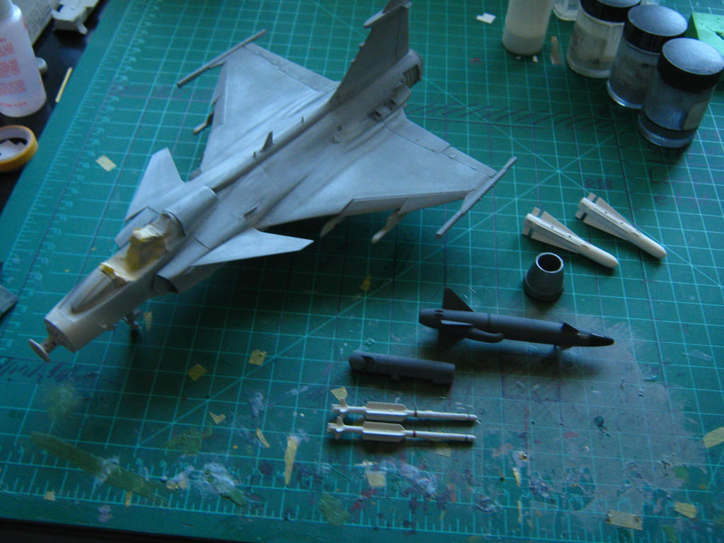 1/48 Scale JAS-39A/C Progress (paint, finally) by Coffeebean2
