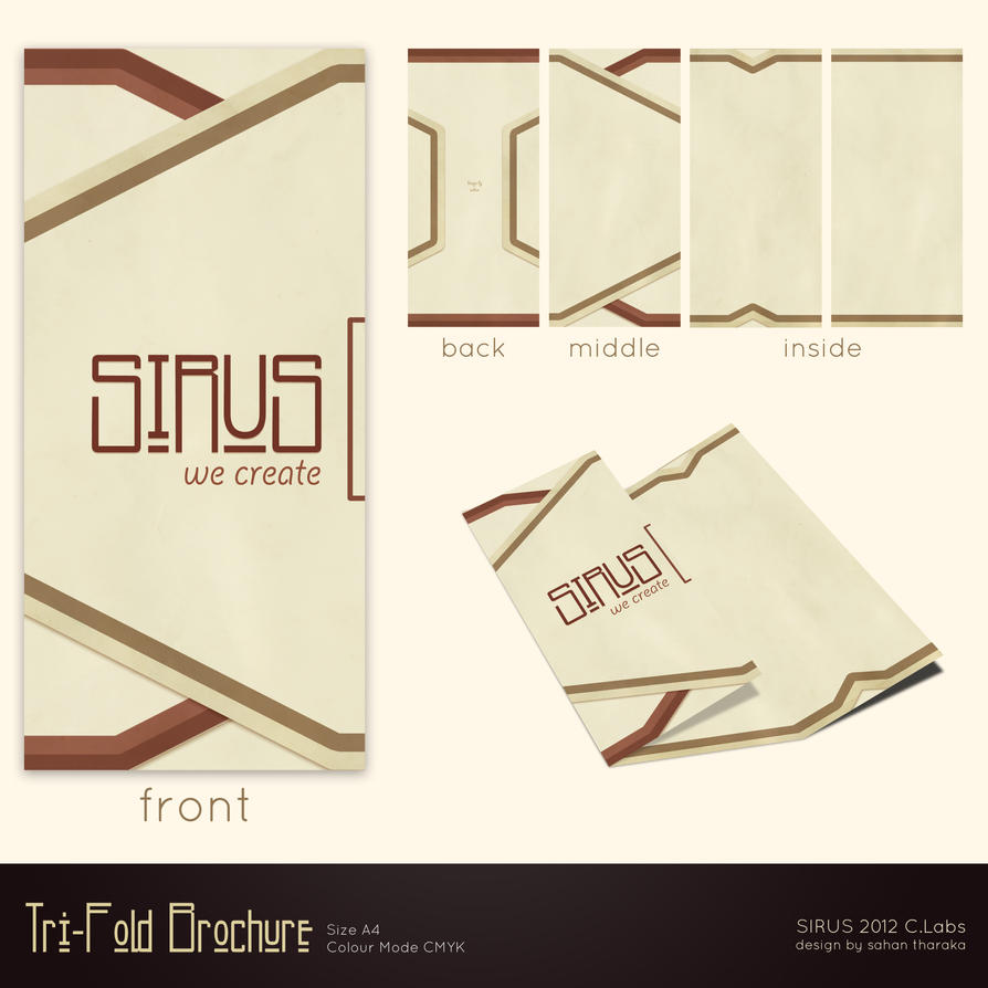 Tri-Fold Brochure Layout Design by sirus3002 on DeviantArt