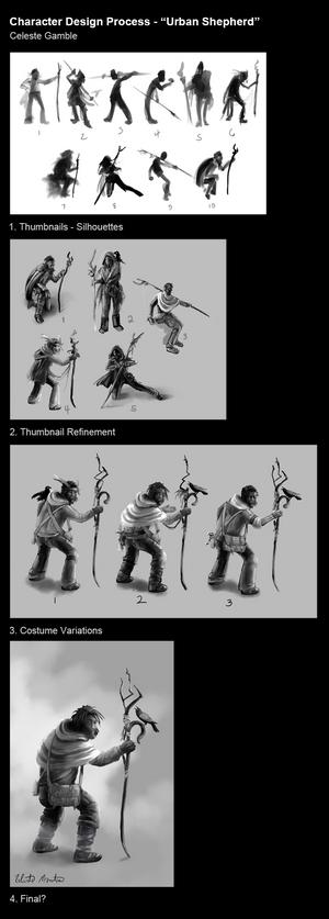 Character Design Process - Urban Shepherd