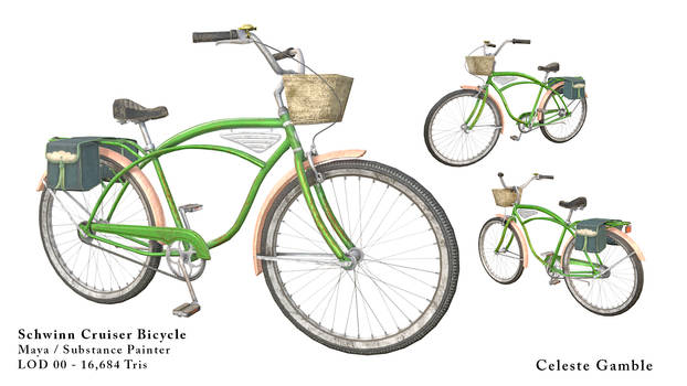 Schwinn Cruiser Bicycle - Game Ready (LOD 00)