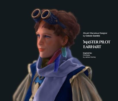 Master Pilot Earhart - Portrait