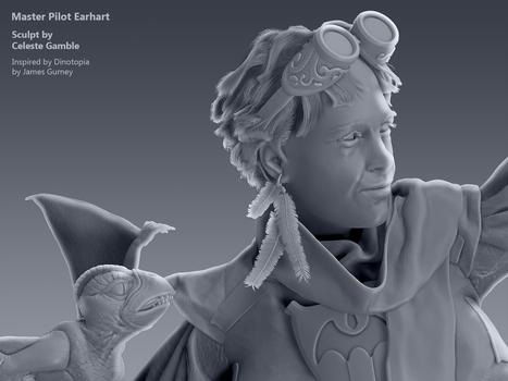 Master Pilot Earhart, Sculpt Detail 3