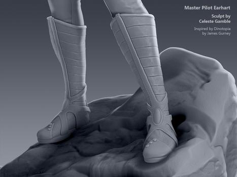 Master Pilot Earhart, Sculpt Detail 2