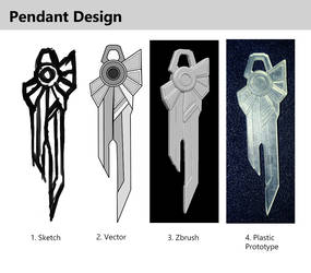 Art Deco Pendant - 3D Print