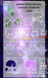 Galactic Wolves traits 1 by Madoka-Neko