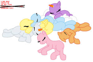 MLP: Sleeping All Together Base by MLP-Blue-Bases