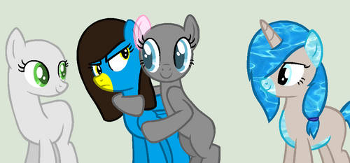 MLP Collab: Unwanted Hug by MLP-Blue-Bases