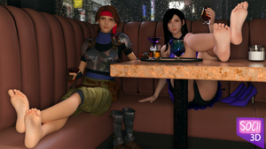 Jessie and Tifa's night out!