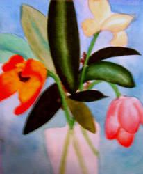 Watercolor flowers by MartineNastassia