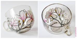 Magnolia Mug - Transparent