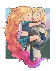 lux and zoe by Mikulishna