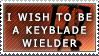 I wish to be a Keyblade Wielder Stamp by SnowEmbrace