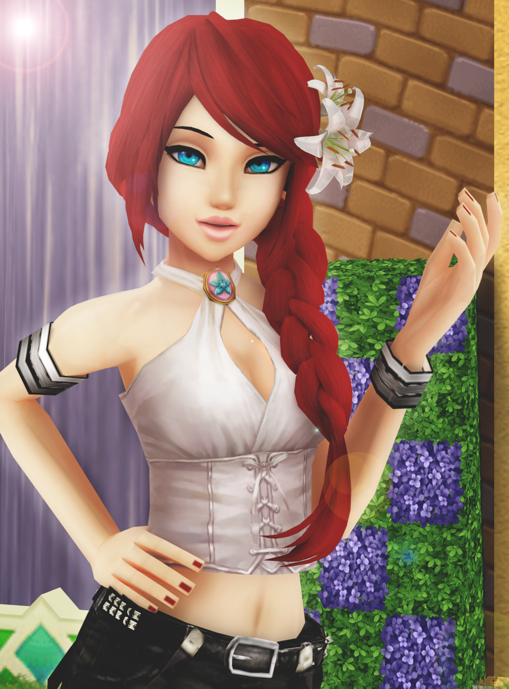 Vidro Commission | Red haired beauty by SnowEmbrace