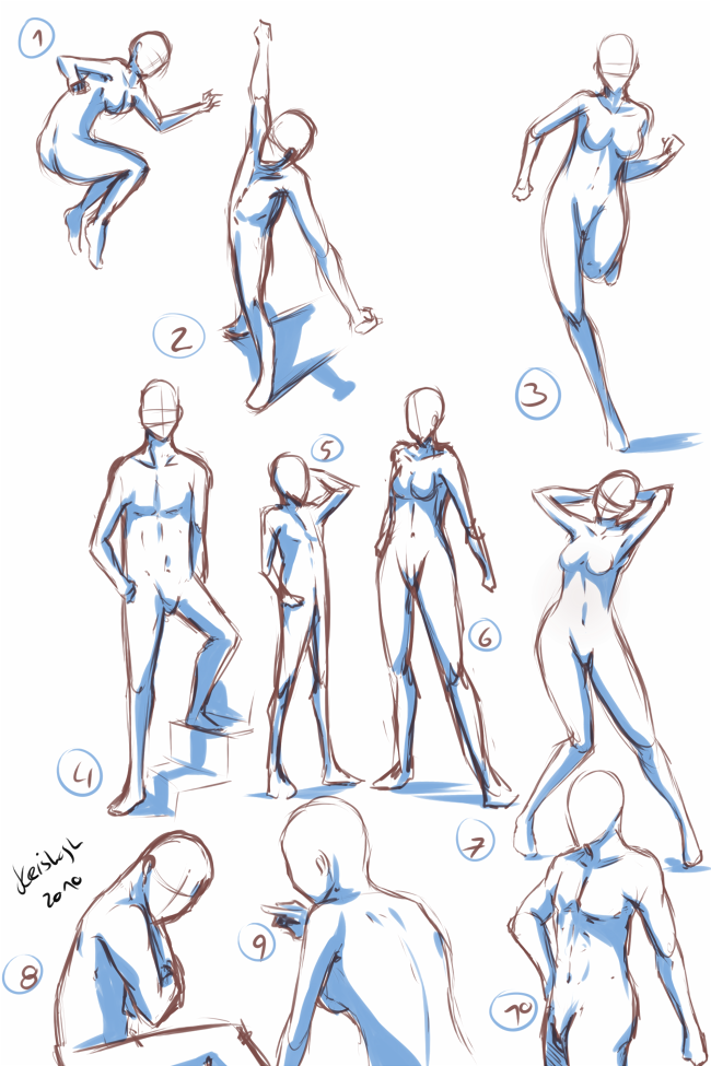 It's just an image of Declarative Anime Poses Drawing