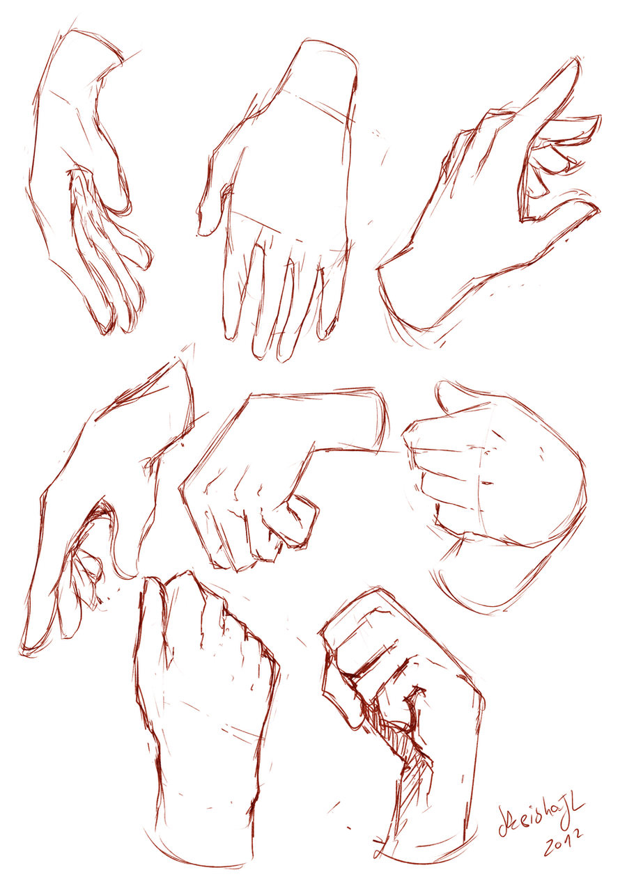 Hands Sketches By Keishajl