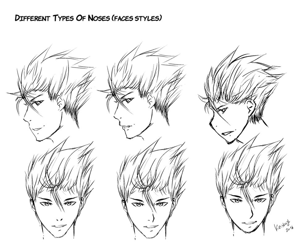 Different Types of Noses(Faces Styles) by keishajl