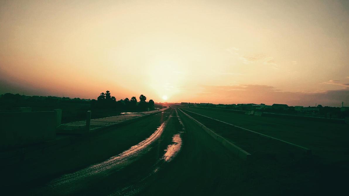 Sun Set @ Kattur Village, Thirumullaivoyal by KleioAmon