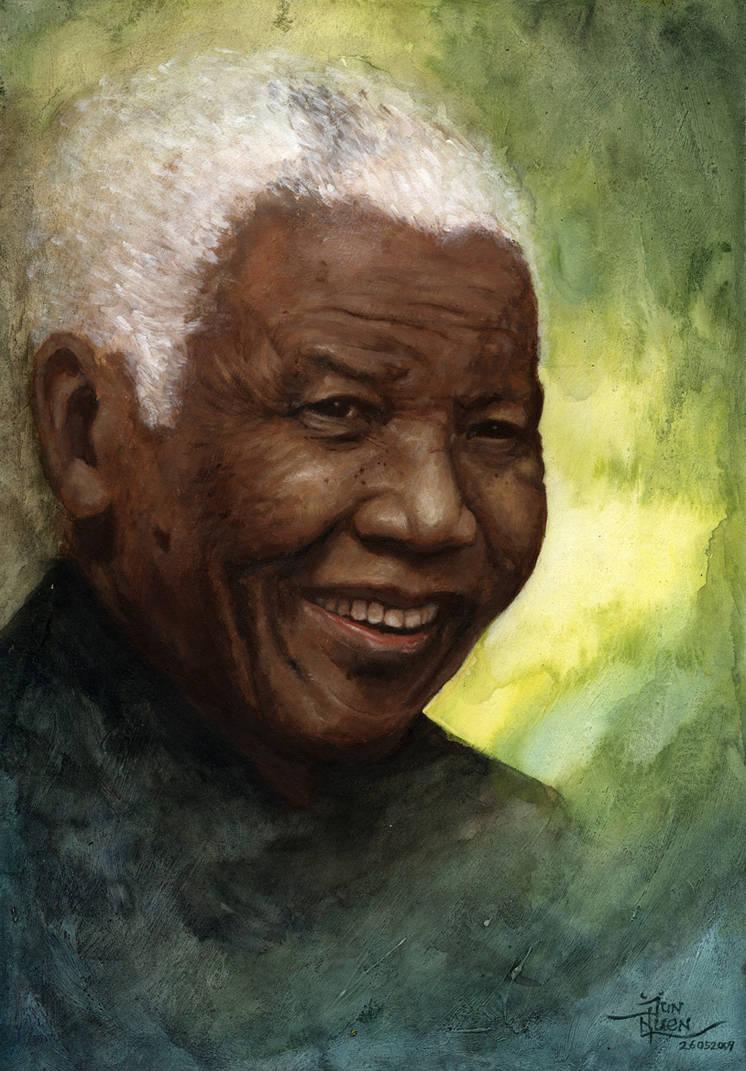 Nelson Mandela by DevilBot