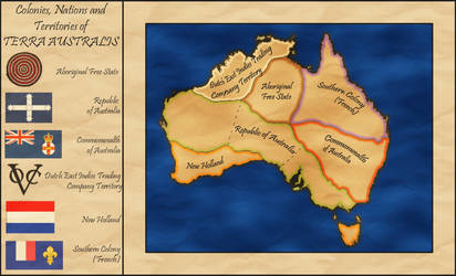 Australia Alt. History Map circa 1880 by whitetower-exe