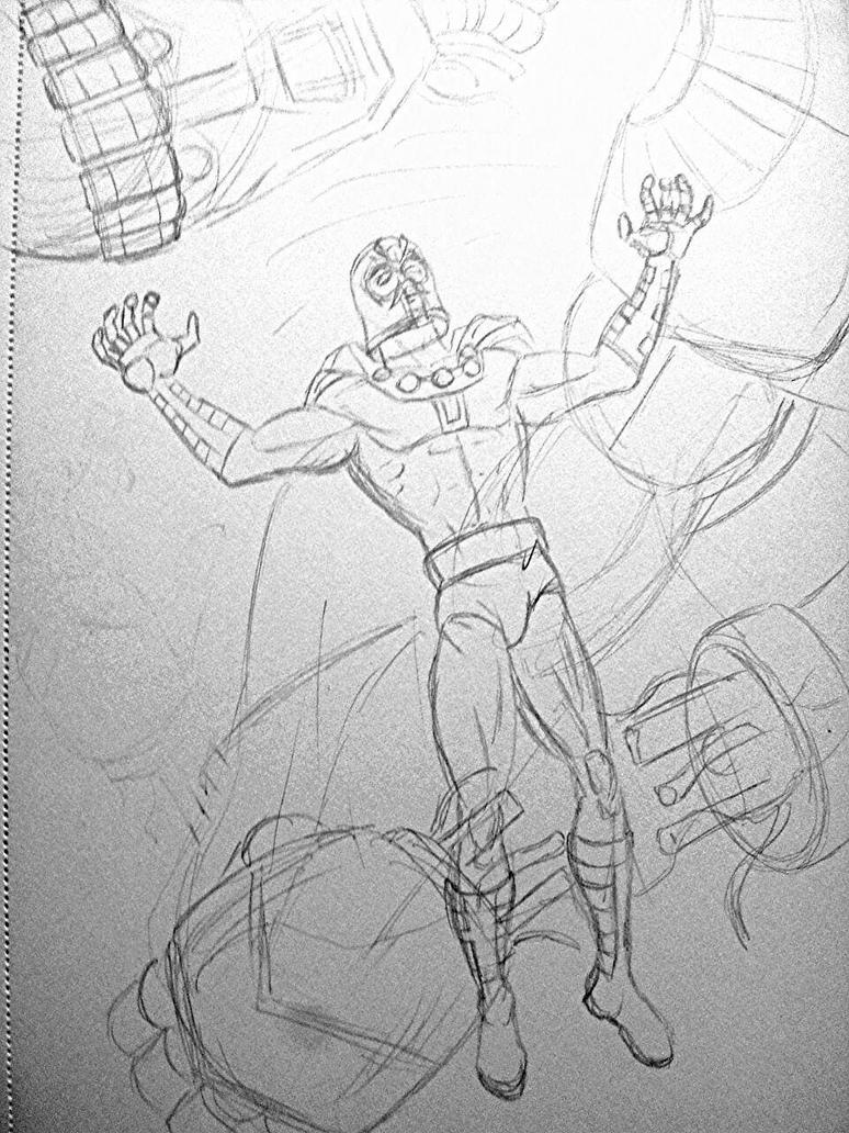 Magneto Rough Sketch by JeanPaulRobin