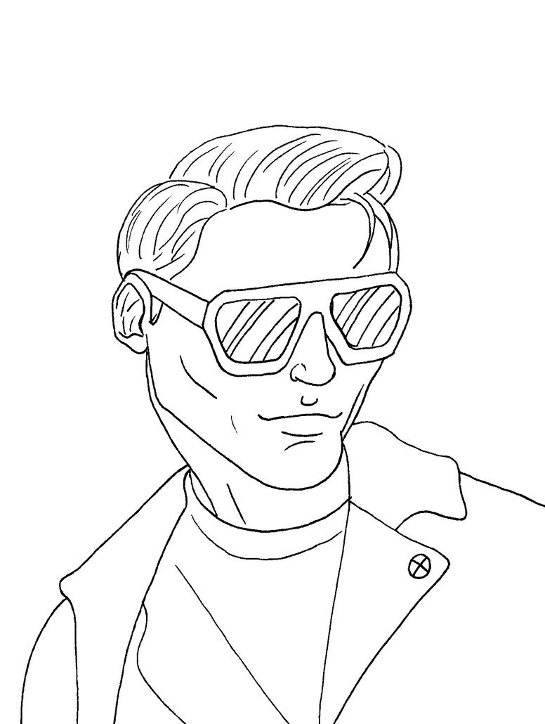 Cyclops Shades Thin Lines by JeanPaulRobin