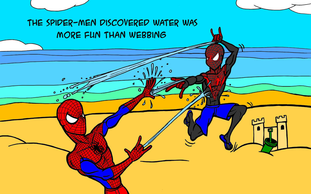 Spidey Splash by JeanPaulRobin