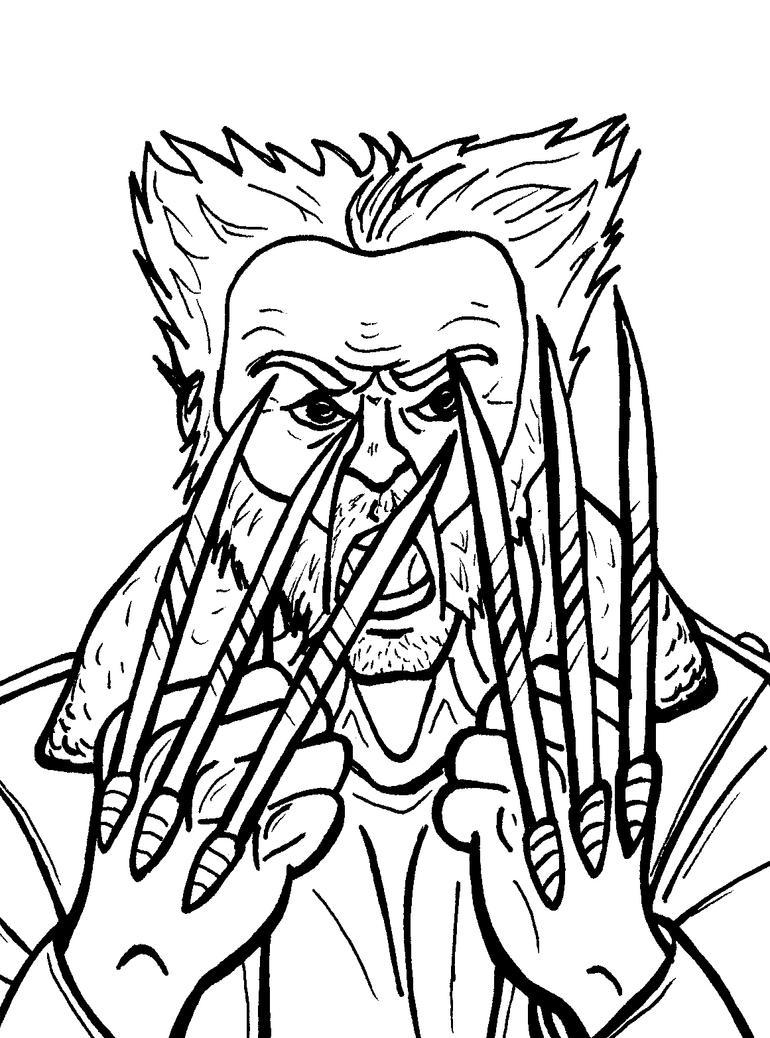 Angry Logan Inks by JeanPaulRobin