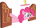 Pinkie Pie with cake as hat