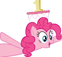 Pinkie Pie with cake as hat - without doors by CrusierPL