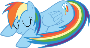 Sleeping Rainbow Dash by CrusierPL