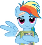 Rainbow Dash and her book