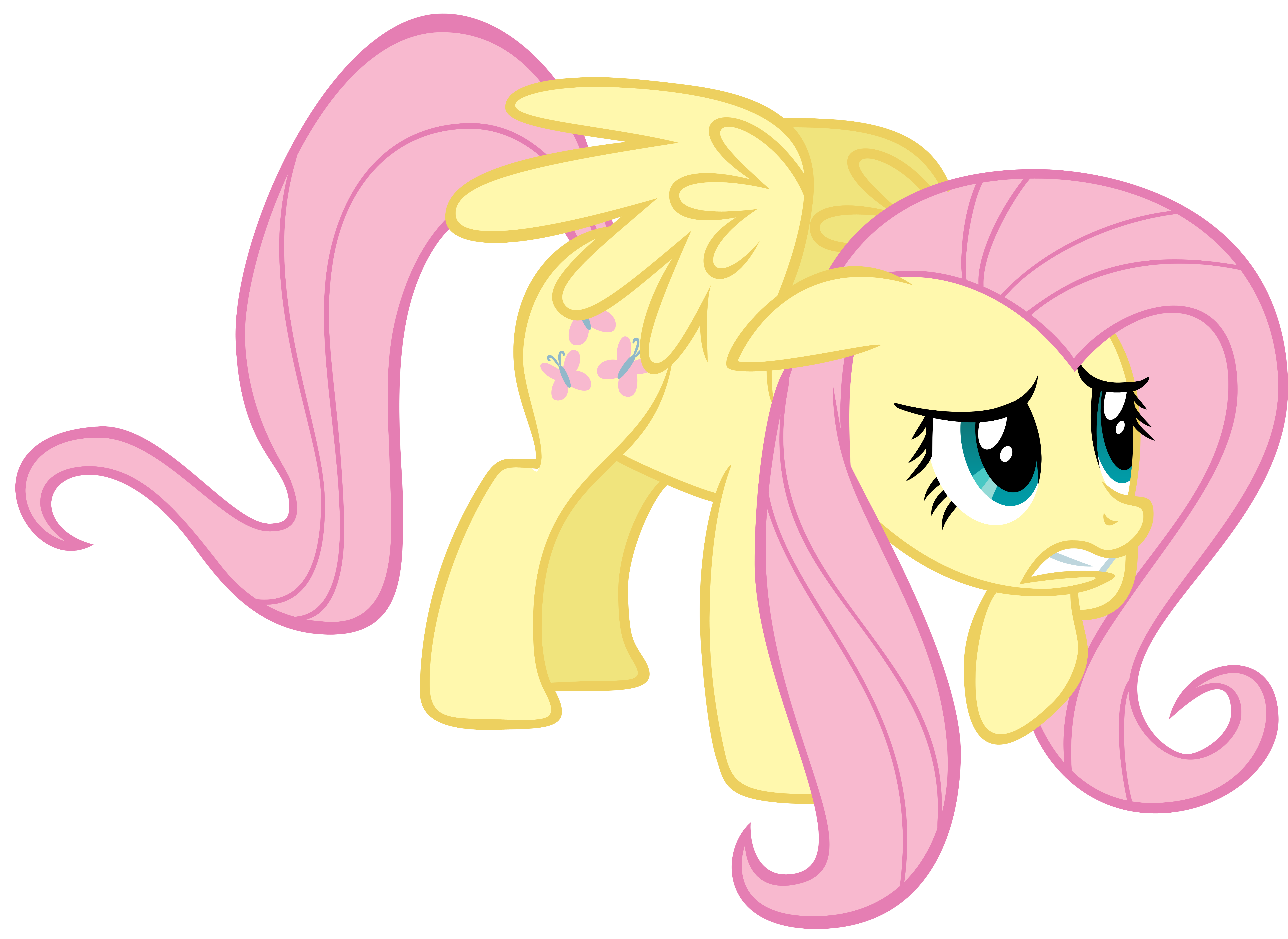 Scared Fluttershy by CrusierPL on DeviantArt