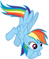 Hovering Rainbow Dash by CrusierPL