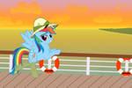 Rainbow Daring Dash in socks