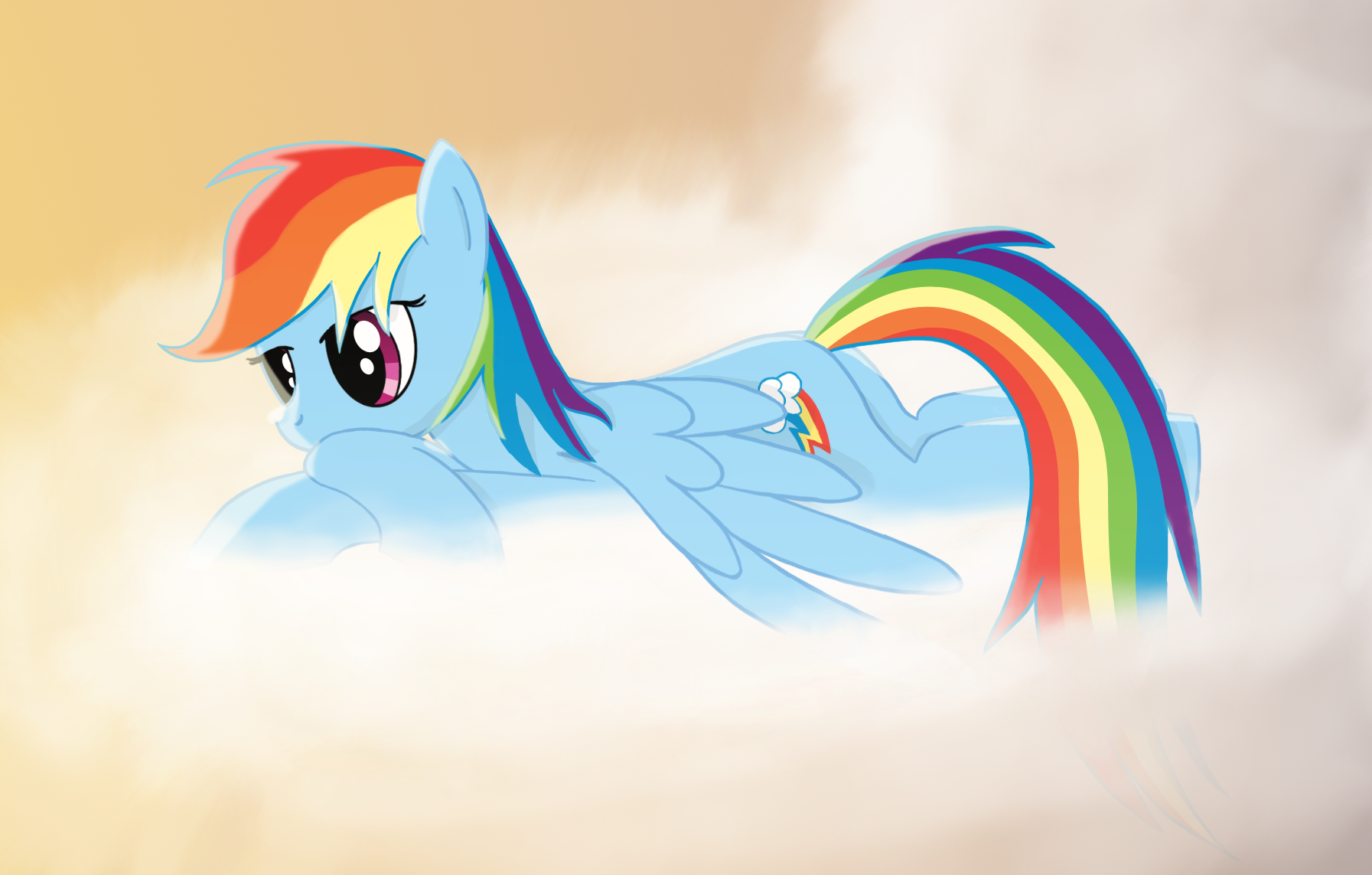 Dashie on a cloud by CrusierPL