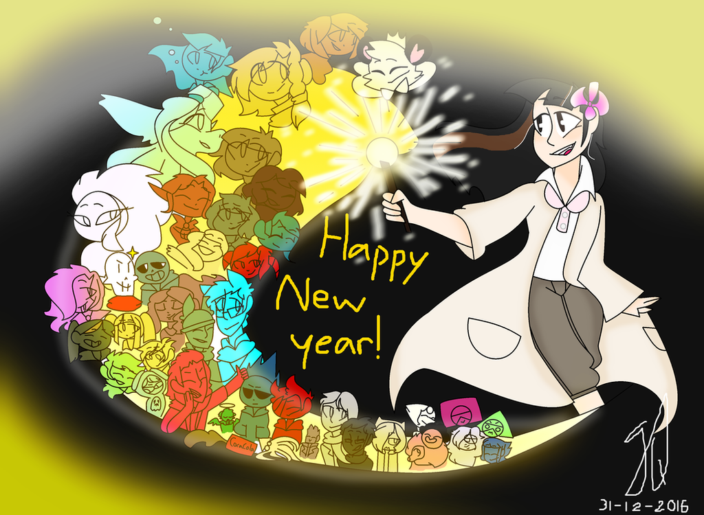 Happy New years! (+speedpaint) by TheCatQueen10