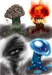 Elemental mushrooms
