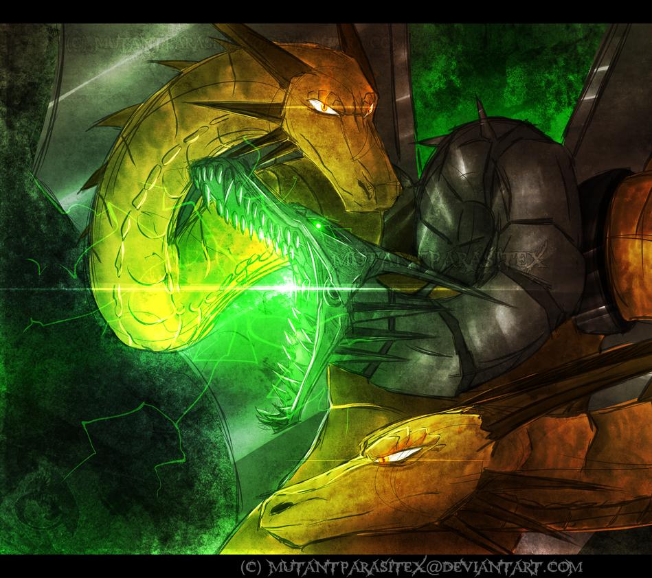 Mecha King Ghidorah by MutantParasiteX