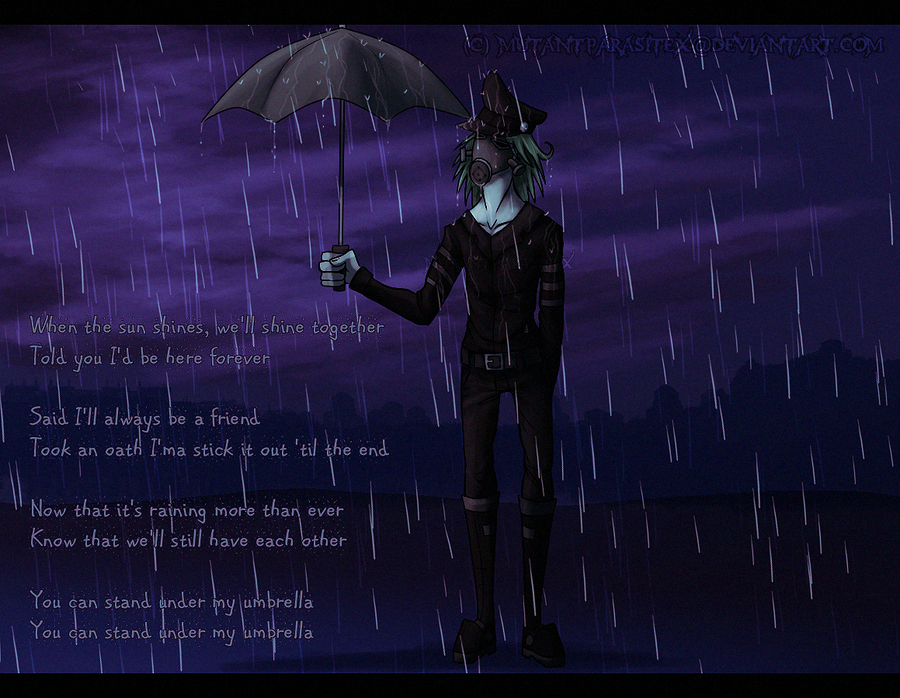 You Can Stand Under My Umbrella by MutantParasiteX