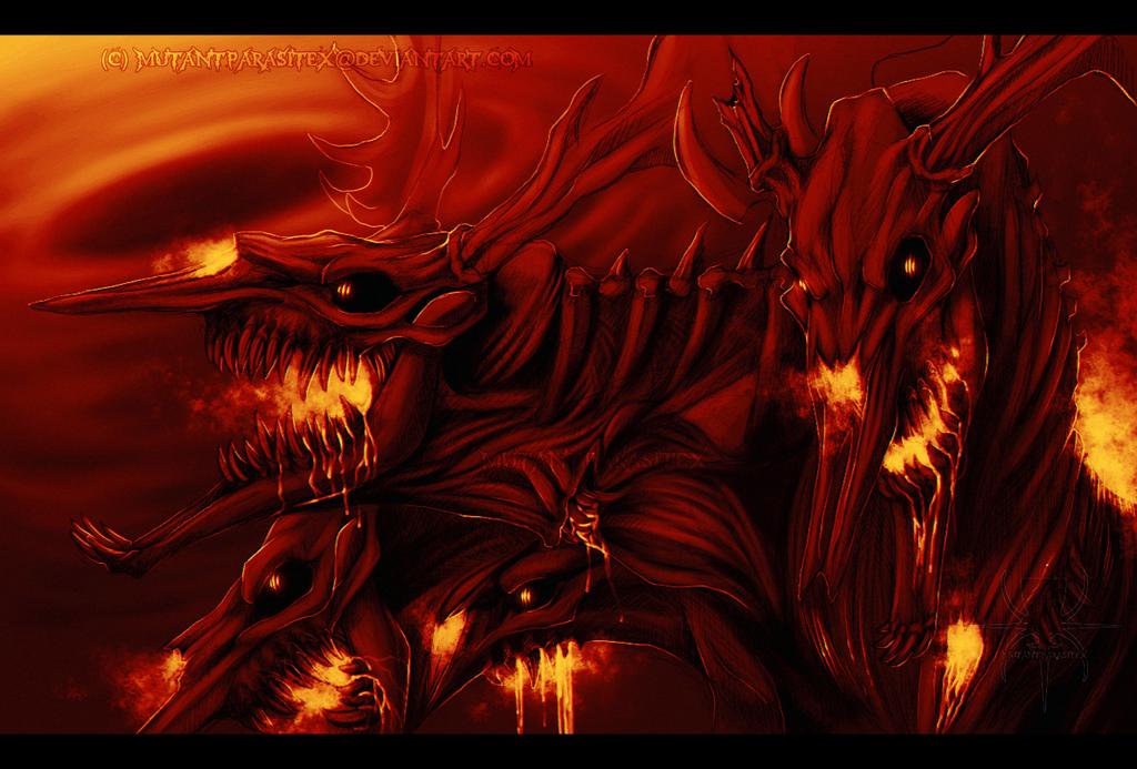 Burning Now I Bring You Hell! by MutantParasiteX