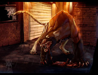 CM: Back Alley Beast by MutantParasiteX
