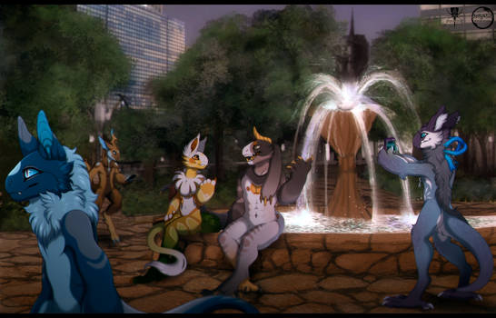 City Park Evening - Collab