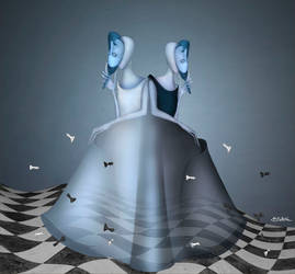 Black-White Queen (about Alice)