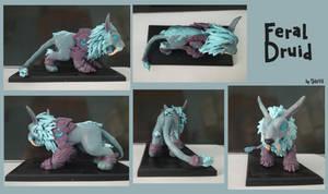 Feral druid sculpture by Gela98