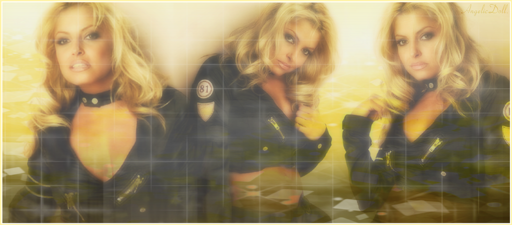Trish Stratus Yellow Banner by KasakuraxMaskai